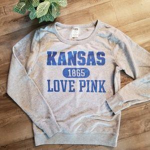 Pink Victoria's Secret S Kansas Gray Sweatshirt